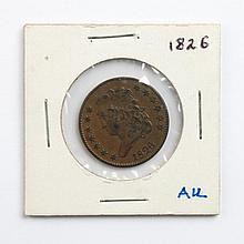 U.S. Classic Head type copper half cent, 1826