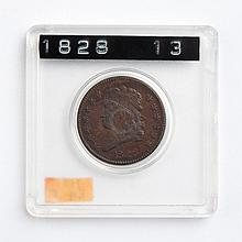 U.S. Classic Head type copper half cent, 1828