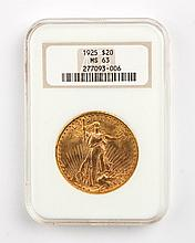United States gold double eagle ($20), 1925