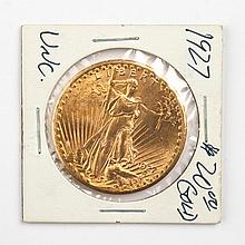 United States gold double eagle ($20), 1927