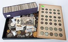 Assortment of coins of the world