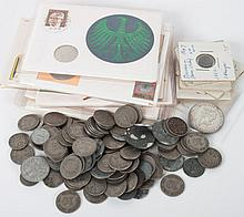 Selection of Germany silver and nickel coins