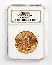 United States gold double eagle ($20), 1908