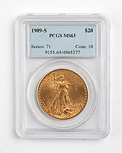 United States gold double eagle ($20), 1909-S