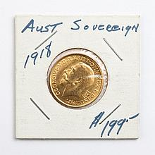Great Britain gold sovereign, 1918-M