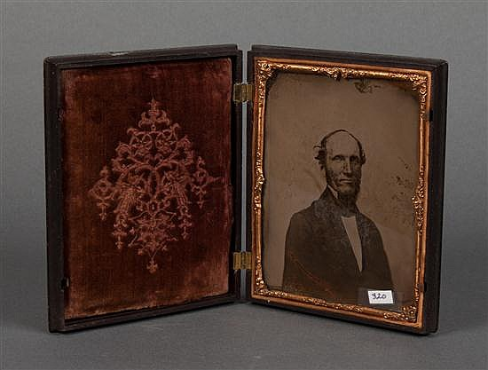 [Photography] Half plate ambrotype portrait of a gentleman in a molded thermoplastic union case