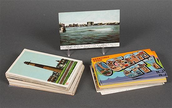 [Postcards] Selection of about 150 cards, posted and unused, mainly from beach resorts in New Jersey