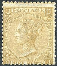 PHILATELIC -  1867-80 9d straw, fine unused centred low, SG.110.