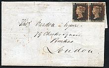 PHILATELIC -  1840 July 8th cover from Worcester to Pimlico, Lon