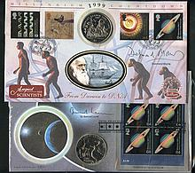 PHILATELIC -  COIN COVERS 1980's-2000+ collection of mainly Benh