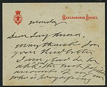 PHILATELIC -  EDWARD VII undated card printed at top from Marlbo