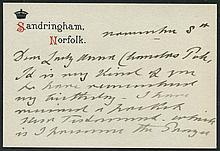 PHILATELIC -  EDWARD VII undated correspondence card printed at