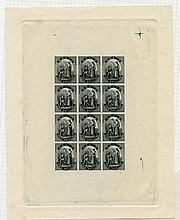 NEVIS 1861 1d, 4d, 6d & 1s - set of four sheetlets