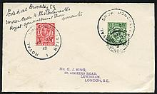 1912 cover to G. King, London, franked Downey Head
