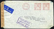 1954 (25 Dec) pair of covers to N.America with