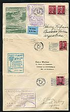1929-51 CANAL ZONE range of first flight covers