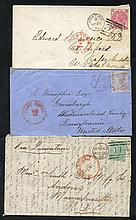 USA 1868-75 single franking covers posted at 6d