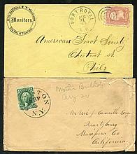 1851-57 10c Washington on a cover to Mariposa Ceo