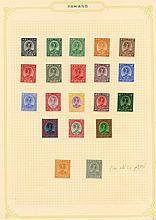 PAHANG 1935-65 fine M collection on leaves incl.
