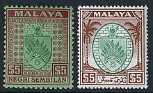 NEGRI SEMBILAN 1935-65 fine M collection on leaves