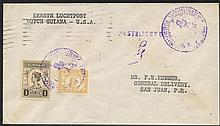 SURINAME/CURACAO 1929-43 first flight covers (8)