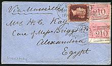 EGYPT 1860-84 Es at various rates incl. 9d, 6d &