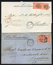 EGYPT 1871 covers with Alexandria 'B01' killers,