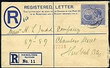 1911 PPC with 1d SHIP tied 'PARCEL POST ' c.d.s.