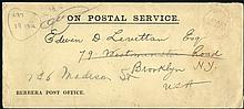 1931 BERBERA POST OFFICE/ON POSTAL SERVICE