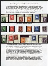 GERMAN FORGERIES OF BRITISH STAMPS DURING WWII -