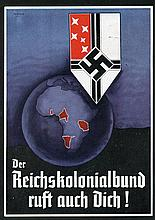 1938 German Colonial Society Official card issued