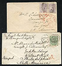 USA 1856-64 covers (small faults) posted at the 1s