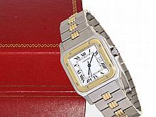 Wristwatch: Gentlemen's watch Cartier Santos stainless steel/18 K gold, automatic