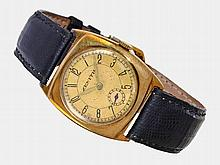 Wristwatch: Early gold gentlemen's watch by Zenith, from the 20s, rare cushion case