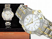 Wristwatch: Baume & Mercier gentlemen's watch/ diver's watch, stainless steel/18 K gold, original box