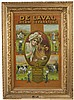 Vintage DeLaval Tin Lithograph Sign