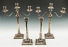 Classical English Sterling Silver Candelabras & Candlesticks