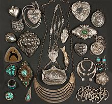 Group of Vintage Silver & Turquoise Jewelry