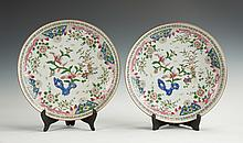 Pair of Chinese Export Porcelain Chargers