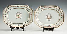 Pair of Early Chinese Export Armorial Porcelain Platters