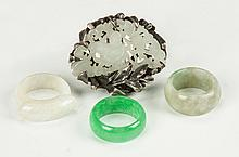 Four Chinese Jade Rings