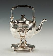 Theodore Starr Sterling Silver Kettle on Stand