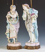 Hand Painted Bisque Masquerade Figures