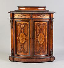 Victorian Inlaid Ebonized & Rosewood Corner Cabinet