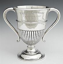 Sterling Presentation Trophy, Sheffield, 1913, engraved