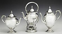 Three Piece Sterling Tea Set, 1951, by Gorham, in the