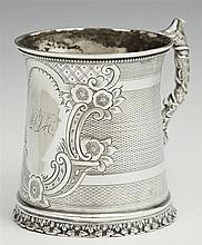 New Orleans Coin Silver Cup, by H.P. Buckley (1822-1903), Successor to Young & Co. 1853, act. until 1903, of waisted cann form with ...