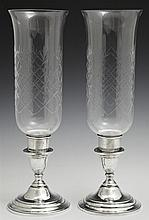 Pair of Weighted Sterling Candlesticks, 20th c., by International, in the