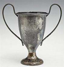 Mardi Gras Krewe Favor, Rex, 1914, in the form of a silverplated loving cup, 'The Drama of the Year