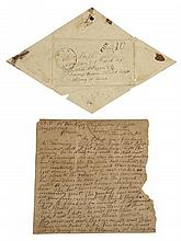 Rare Civil War Letter and Envelope, written on Aug. 17, 1864, by C. W. Shipp to his Father in Springdale, Miss., from Atlanta, conce...